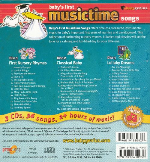 Baby's First Musictime Songs [Box]