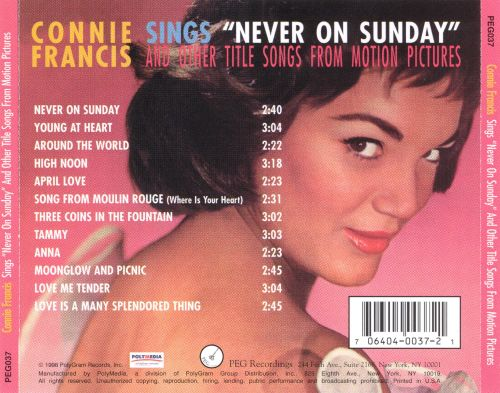 Sings Never on Sunday and Other Title Songs from Motion Pictures