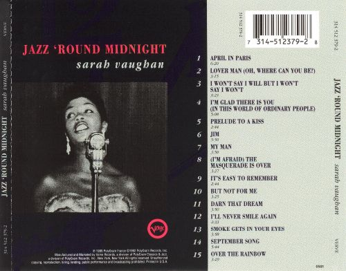 Jazz 'Round Midnight: Sarah Vaughan