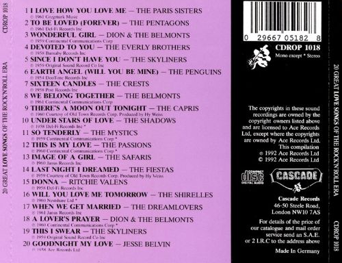 20 Great Love Songs of the Rock & Roll Era