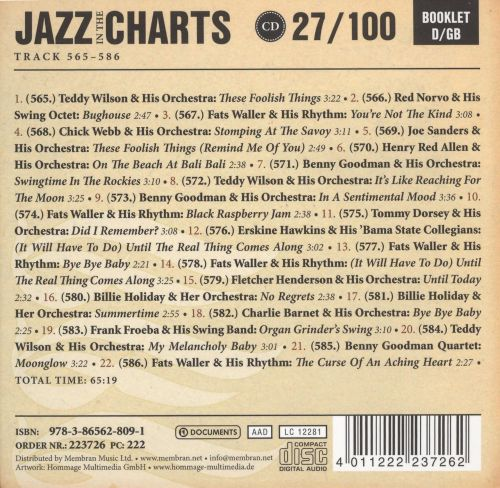 Jazz in the Charts, Vol. 27: Summertime 1936