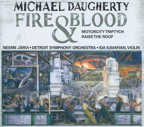 Michael Daugherty Fire And Blood Motorcity Triptych