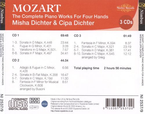 Mozart: The Complete Piano Works for Four Hands