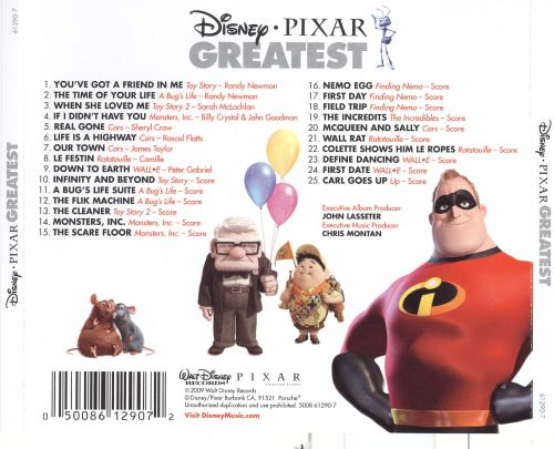Disney Pixar Greatest Hits - Disney | Songs, Reviews