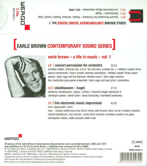 Earle Brown: Contemporary Sound Series, Vol. 1