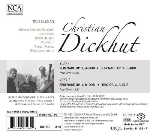 Christian Dickhut: 3 Serenades and Trio