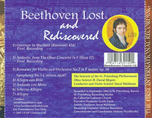 Beethoven Lost and Rediscovered
