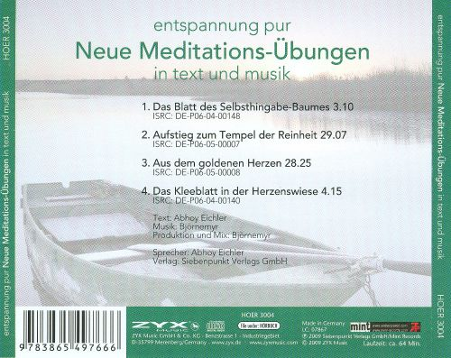 Entspannung Pur Neue Meditations: Übungen in Text and Musik