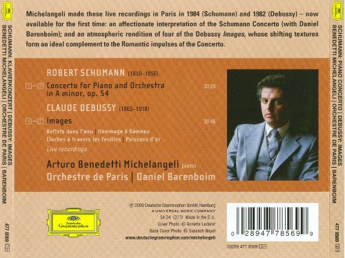 Schumann: Piano Concerto; Debussy: Images