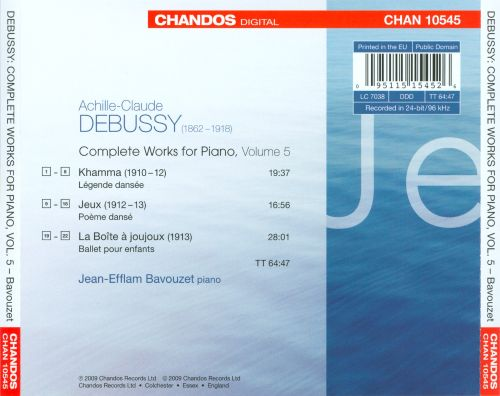 Debussy: Complete Works for Piano, Vol. 5
