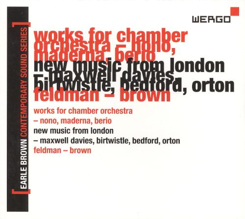 Earle Brown Contemporary Sound Series, Vol. 2