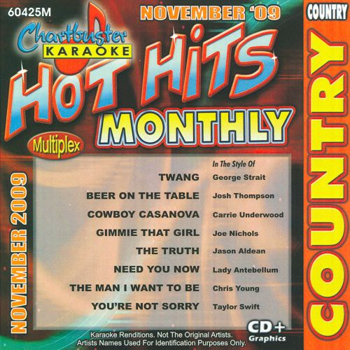 Chartbuster Karaoke: Hot Hits Monthly November 2009, Vol. 2: Country