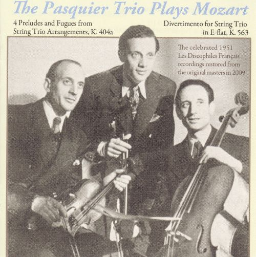 The Pasquier Trio plays Mozart
