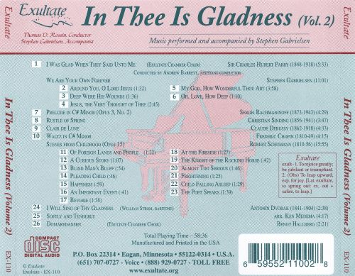 In Thee is Gladness, Vol. 2