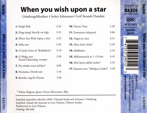 When You Wish Upon a Star [Naxos]