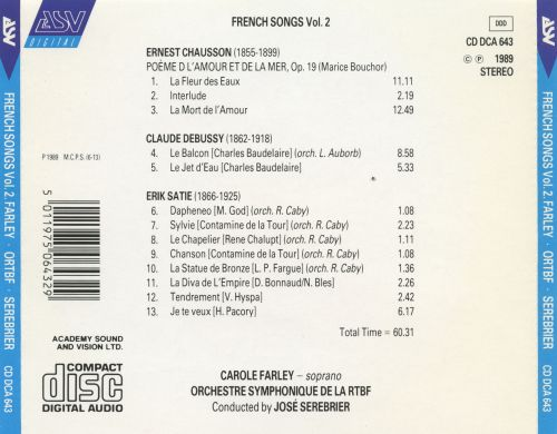 French Songs, Vol. 2