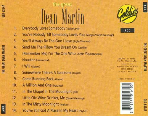 The Great Dean Martin [Goldies]
