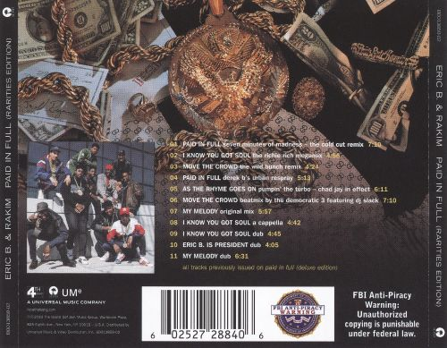 Rarities Edition: Paid in Full