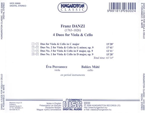 Franz Danzi: 4 Duos for Viola & Cello