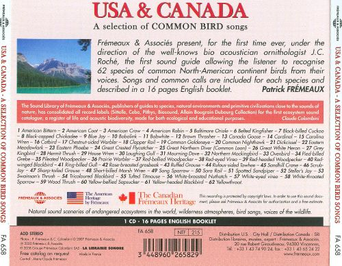 Sounds of Nature: USA and Canada: A Selection of Common Birds Songs