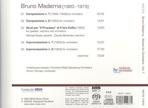 Bruno Maderna: Complete Works for Orchestra, Vol. 1
