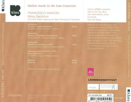 Italian Music in the Low Countries