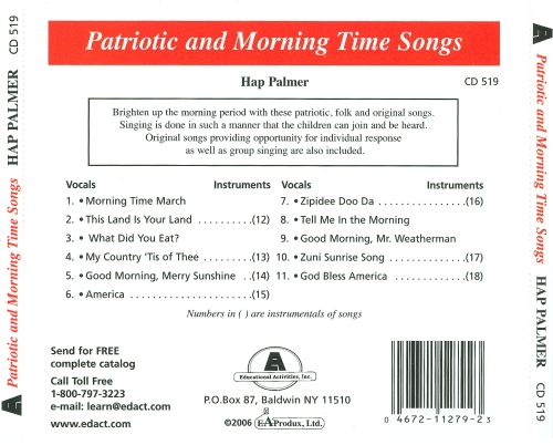 Patriotic and Morning Time Songs