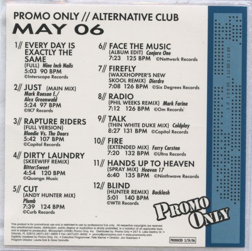 Promo Only: Alternative Club (May 2006)