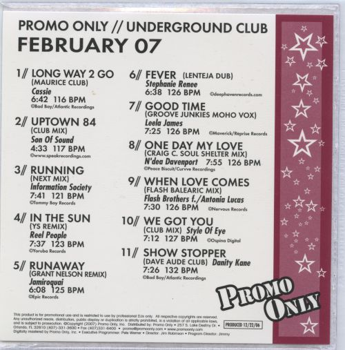 Promo Only: Underground Club (February 2007)