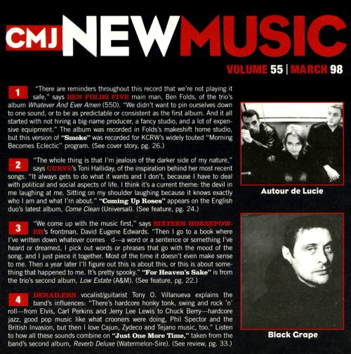 CMJ New Music, Vol. 55