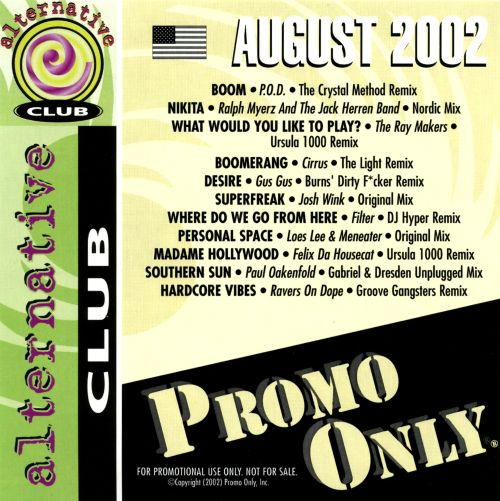 Promo Only: Alternative Club (August 2002)