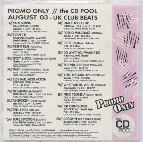 Promo Only: UK Underground Beats (August 2003)