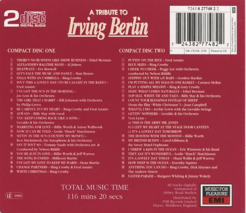 A Tribute to Irving Berlin [EMI]