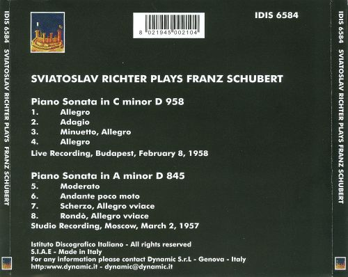 Sviatoslav Richter plays Franz Schubert