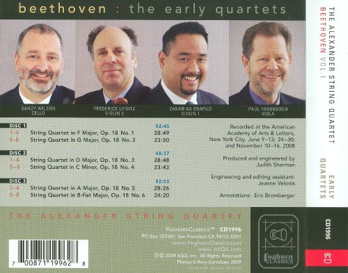 Early Beethoven Quartets