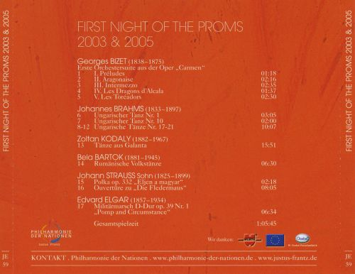 Musikfeste: First Night of the Proms, 2003 & 2005