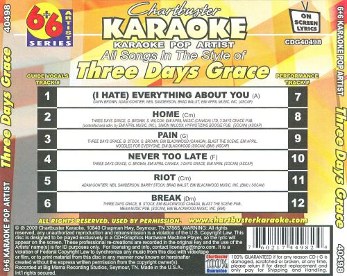 Chartbuster Karaoke: Three Days Grace