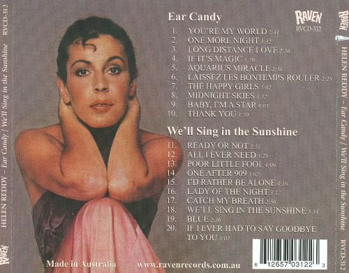 Ear Candy/We'll Sing in the Sunshine