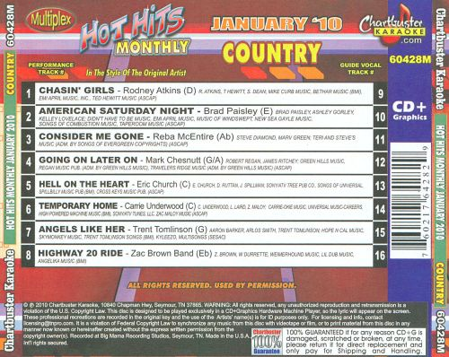 Chartbuster Karaoke: Hot Hits Monthly January 2010 Country, Vol. 2