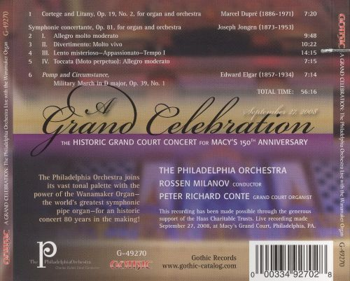Grand Celebration: The Historic Court Concert for Macy's 150th Anniversary
