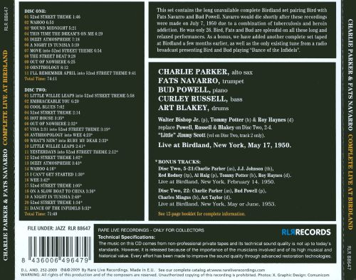 Complete Live at Birdland: May 17, 1950