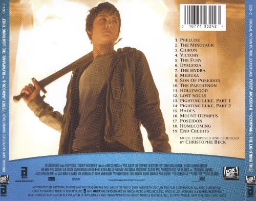 Percy Jackson & the Olympians: The Lightning Thief [Original Motion Picture Soundtrack]
