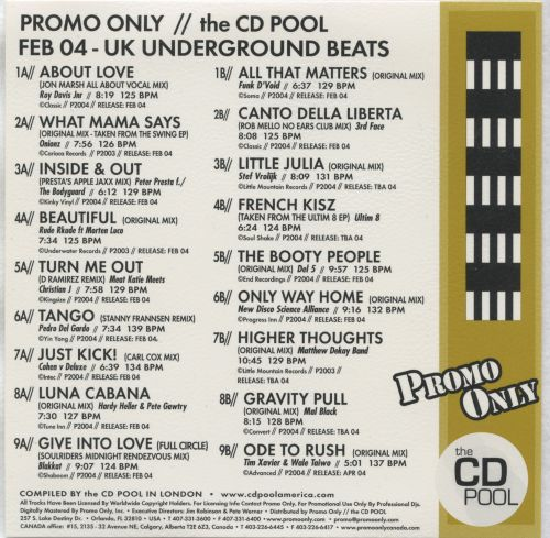 Promo Only: UK Underground Beats (February 2004)