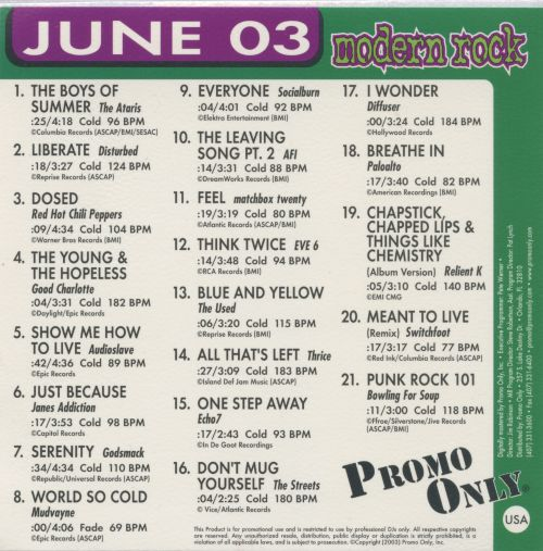 Promo Only: Modern Rock (June 2003)