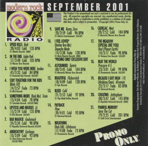 Promo Only: Modern Rock Radio (September 2001)