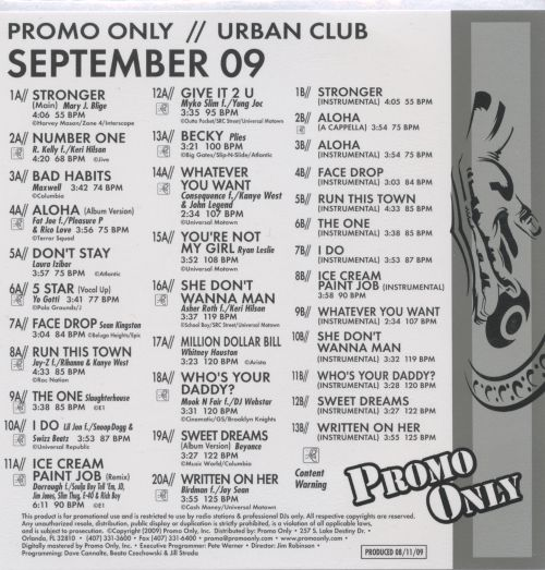 Promo Only: Urban Club (September 2009)