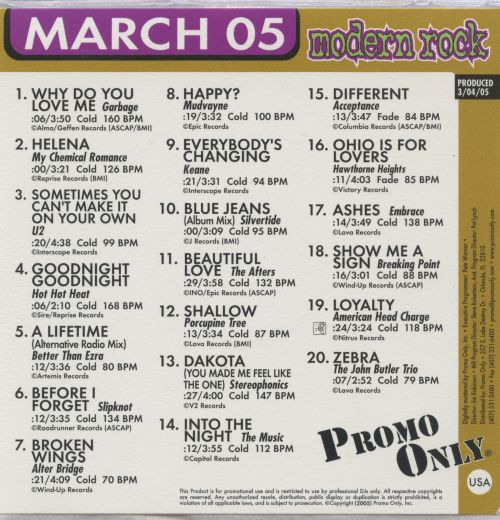 Promo Only: Modern Rock Radio (March 2005)