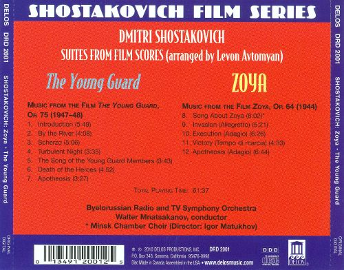 Zoya & The Young Guard - Suites from Film Scores