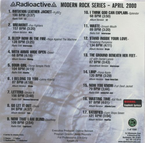 Radioactive: Modern Rock Series (April 2000)
