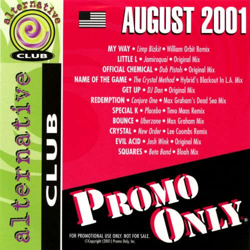 Promo Only: Alternative Club (August 2001)